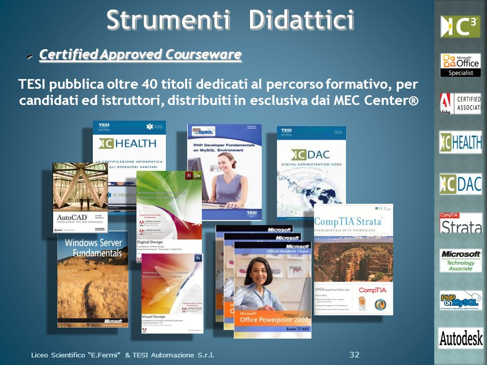 Strumenti Didattici Certified Approved Courseware