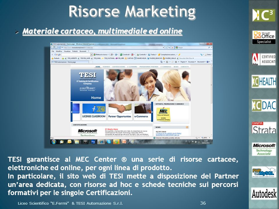 Risorse Marketing Materiale cartaceo, multimediale ed online