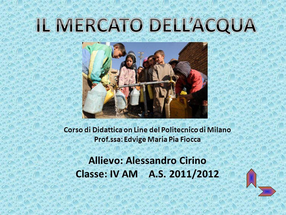 IL MERCATO DELL'ACQUA Allievo: Alessandro Cirino