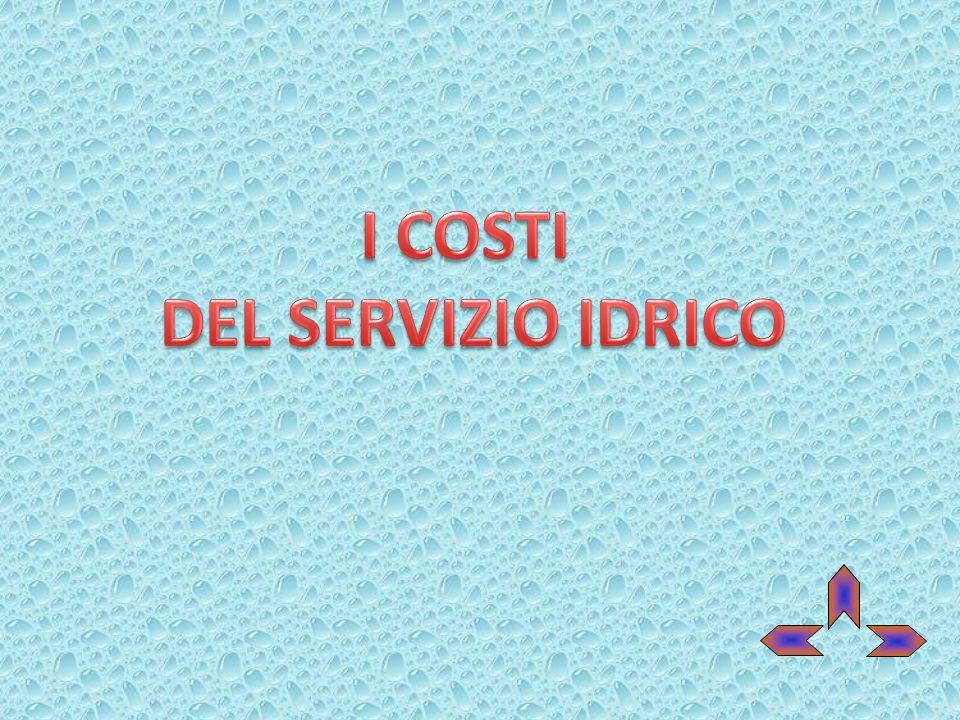 I COSTI DEL SERVIZIO IDRICO