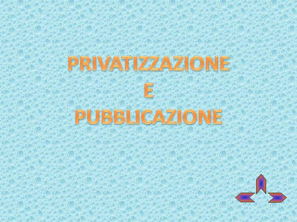 PRIVATIZZAZIONE E PUBBLICAZIONE