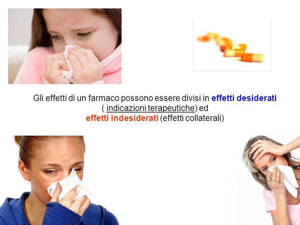 effetti indesiderati (effetti collaterali)