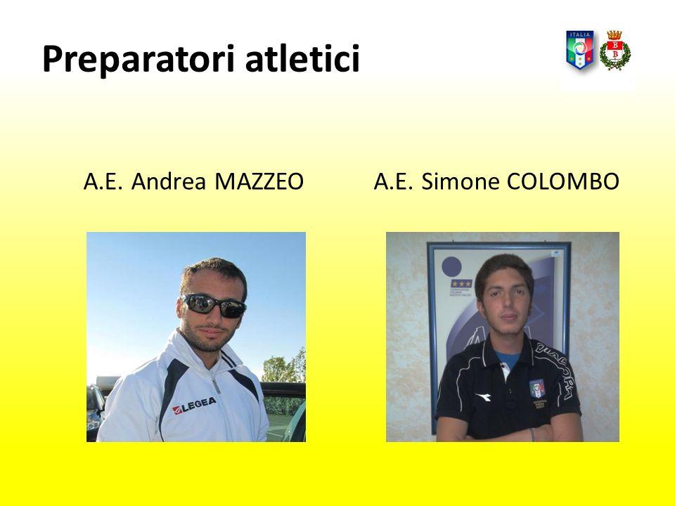 Preparatori atletici A.E. Andrea MAZZEO A.E. Simone COLOMBO