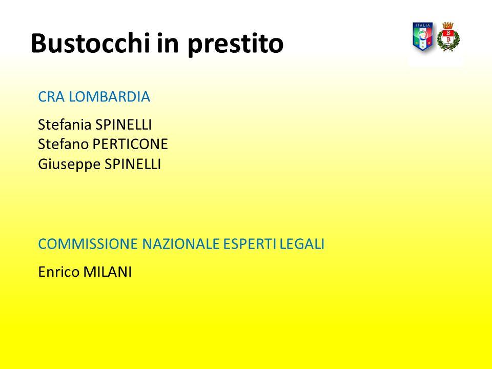 Bustocchi in prestito CRA LOMBARDIA Stefania SPINELLI