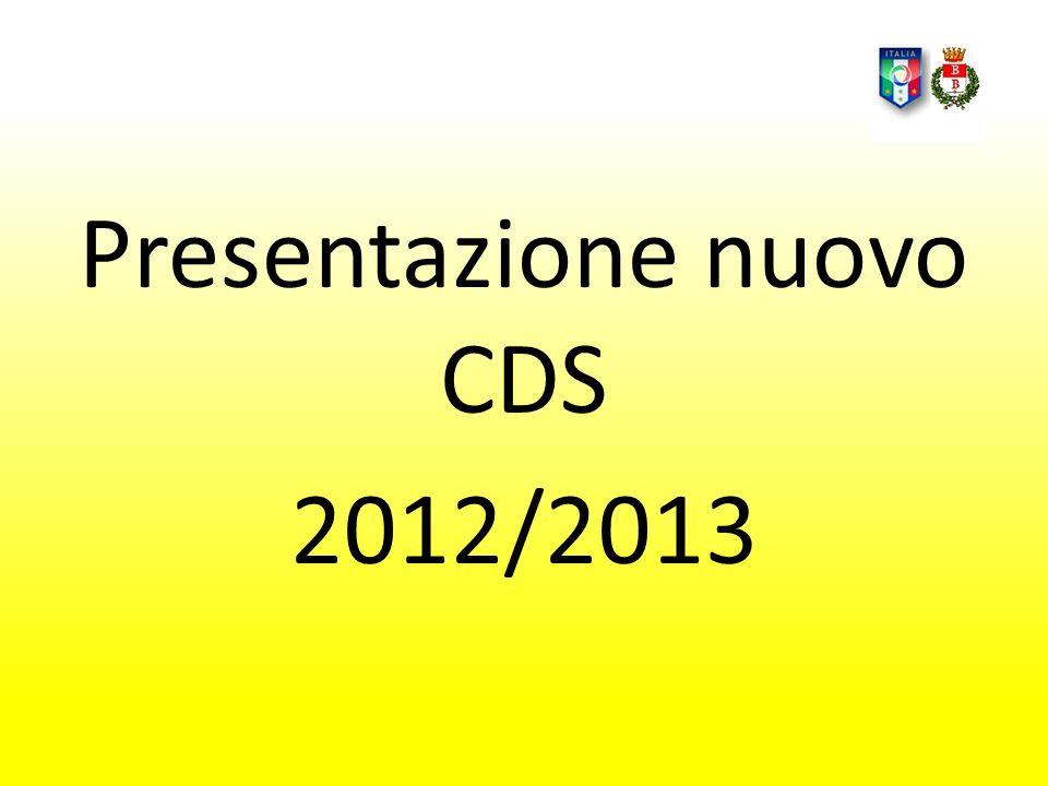 Presentazione nuovo CDS 2012/2013