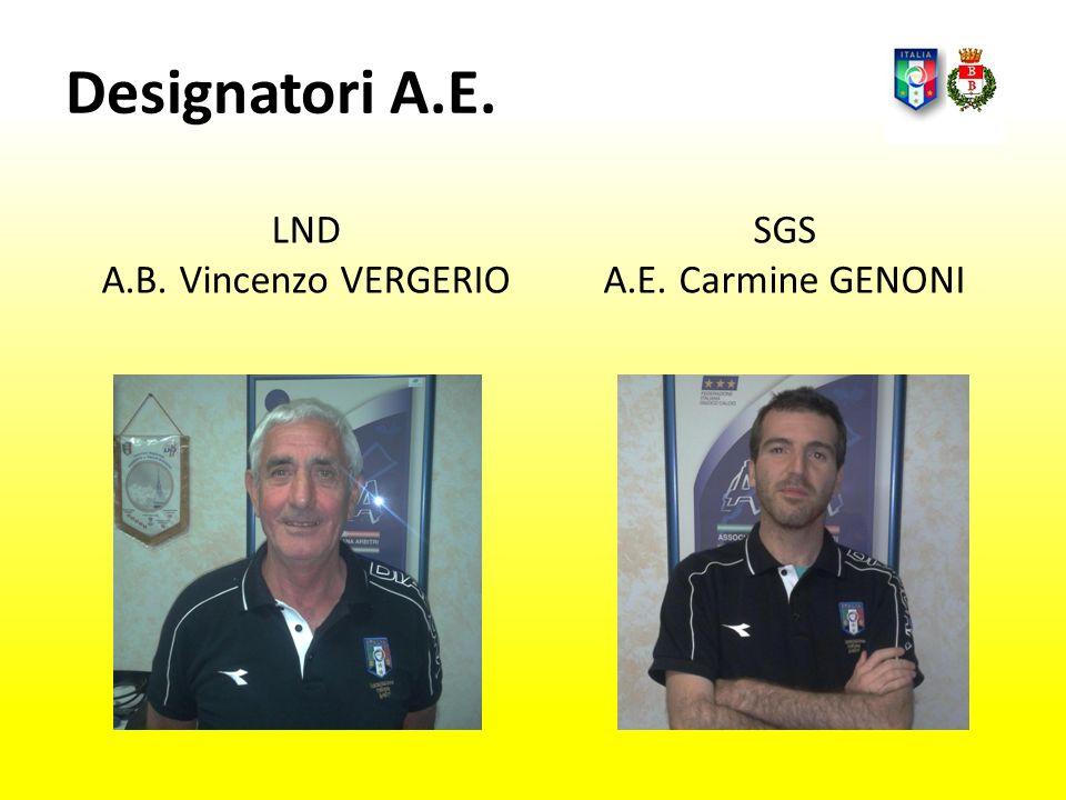 Designatori A.E. LND A.B. Vincenzo VERGERIO SGS A.E. Carmine GENONI