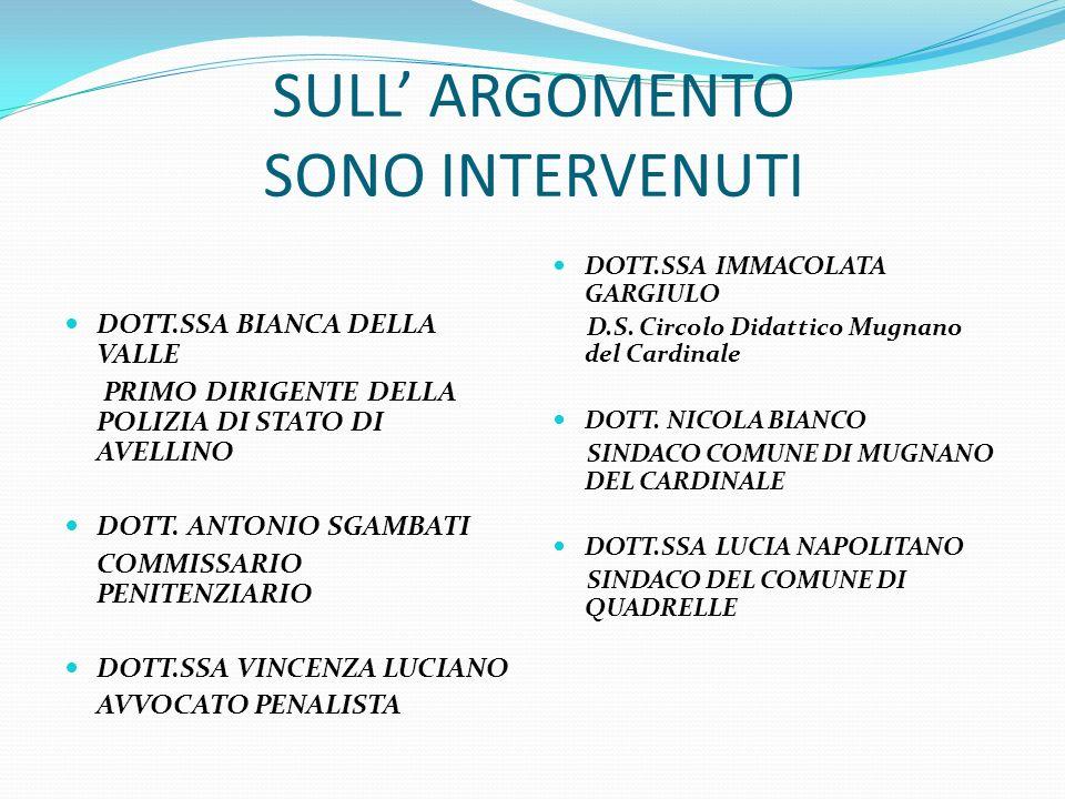 SULL' ARGOMENTO SONO INTERVENUTI