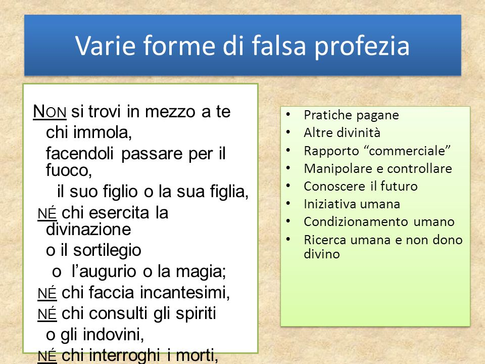 Varie forme di falsa profezia