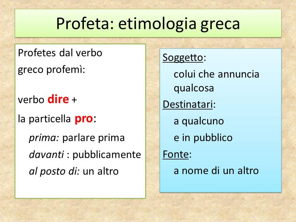 Profeta: etimologia greca