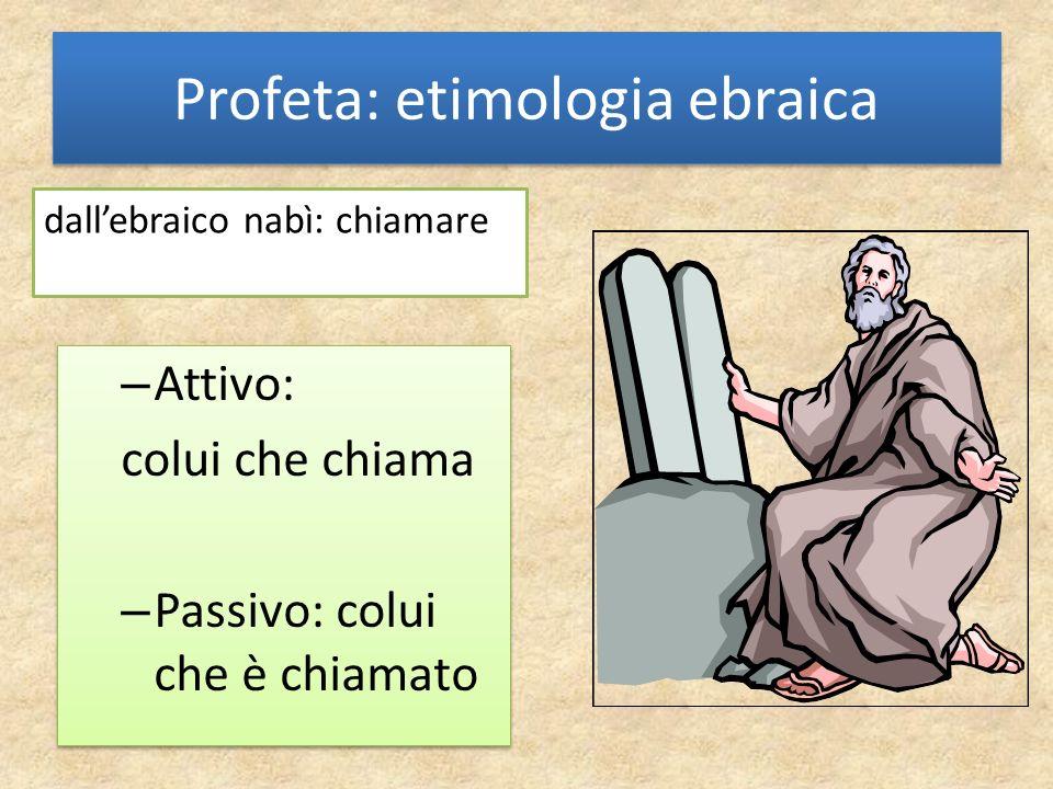 Profeta: etimologia ebraica