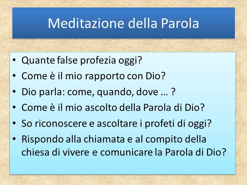 Meditazione della Parola