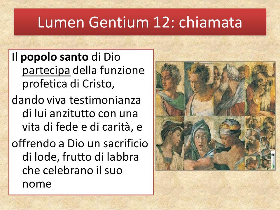 Lumen Gentium 12: chiamata