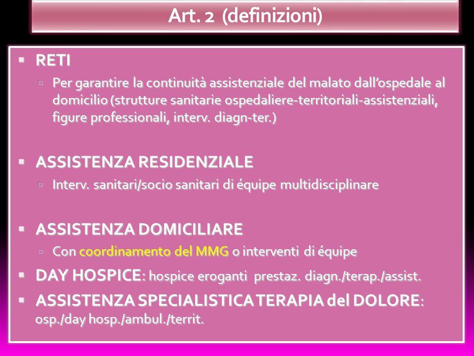 Art. 2 (definizioni) RETI ASSISTENZA RESIDENZIALE