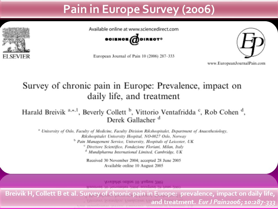 Pain in Europe Survey (2006)