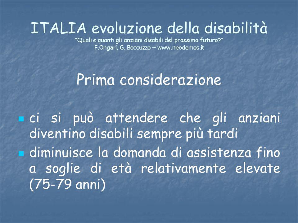 ITALIA evoluzione della disabilità Quali e quanti gli anziani disabili del prossimo futuro F.Ongari, G. Boccuzzo – www.neodemos.it