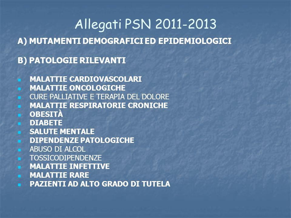 Allegati PSN 2011-2013 A) MUTAMENTI DEMOGRAFICI ED EPIDEMIOLOGICI