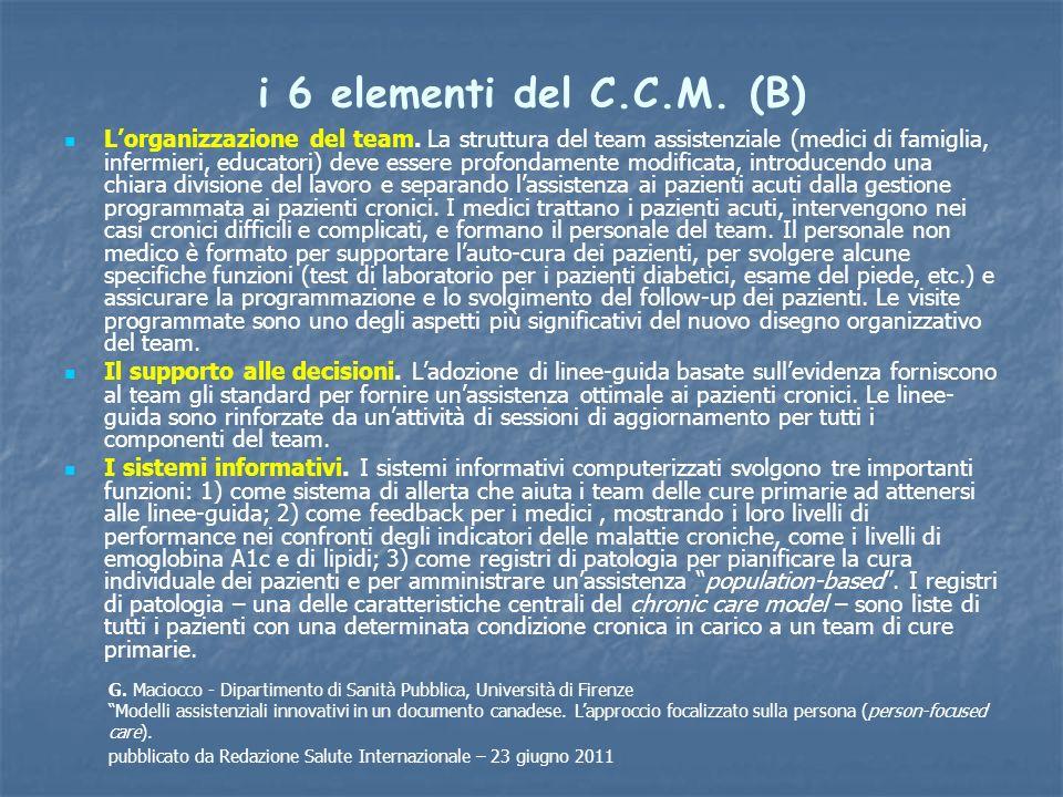 i 6 elementi del C.C.M. (B)