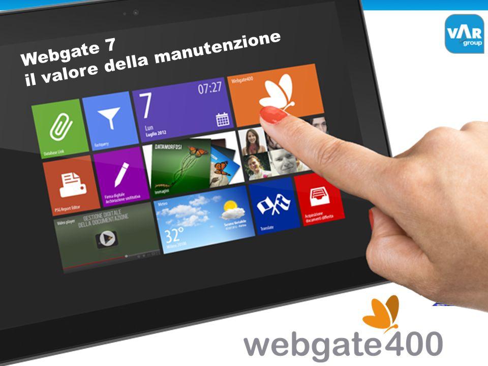 il valore della manutenzione Webgate 7