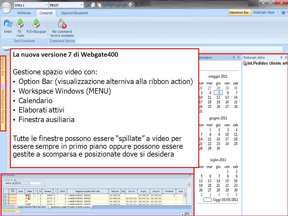 La nuova versione 7 di Webgate400 Gestione spazio video con: