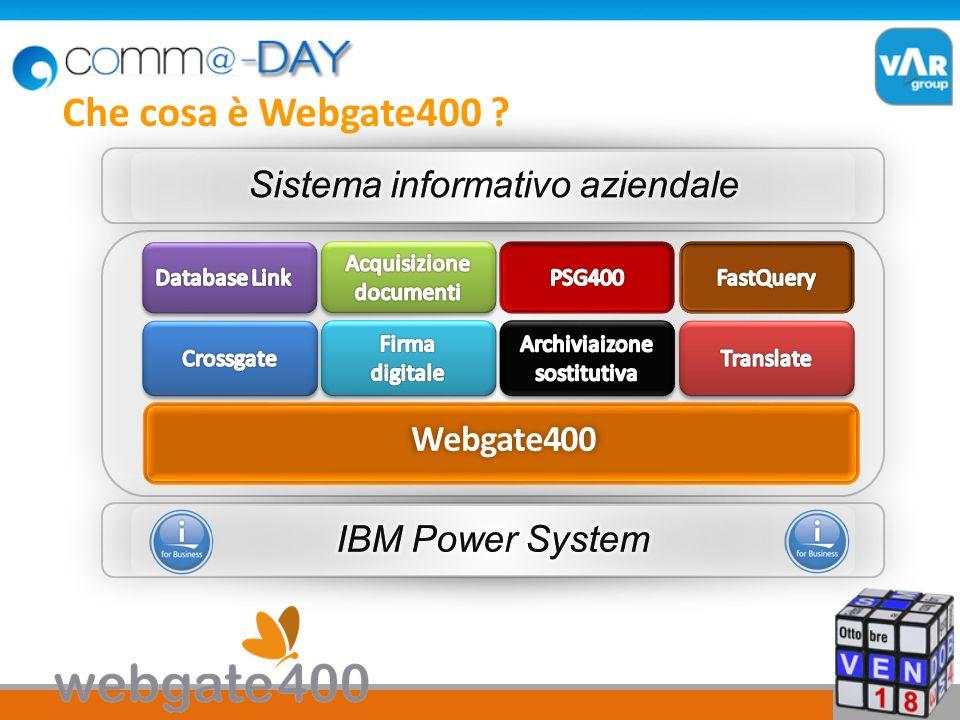 Che cosa è Webgate400 Sistema informativo aziendale Webgate400
