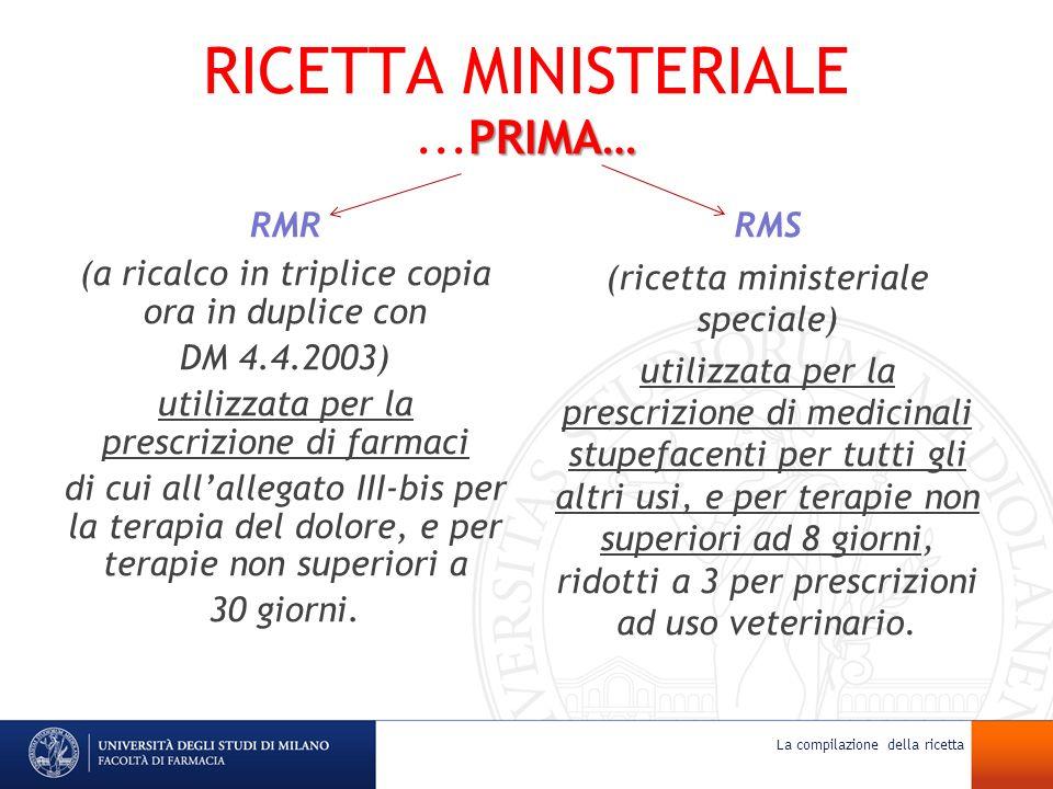 RICETTA MINISTERIALE ...PRIMA…