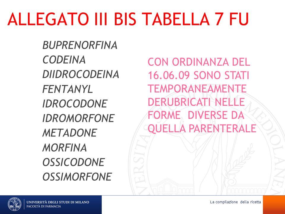 ALLEGATO III BIS TABELLA 7 FU