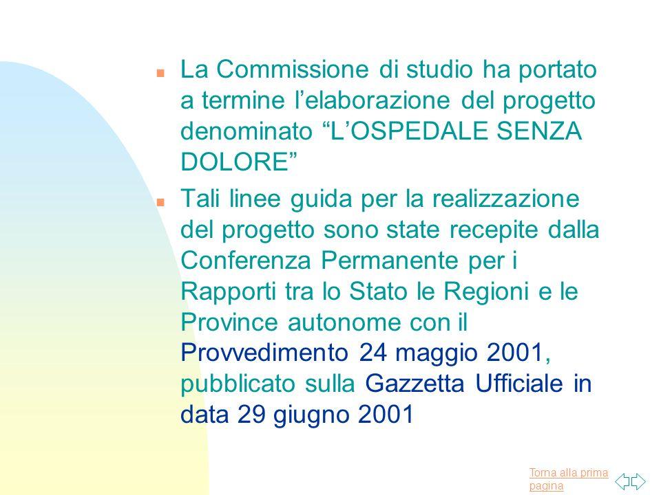 29/03/2017La Commissione di studio ha portato a termine l'elaborazione del progetto denominato L'OSPEDALE SENZA DOLORE
