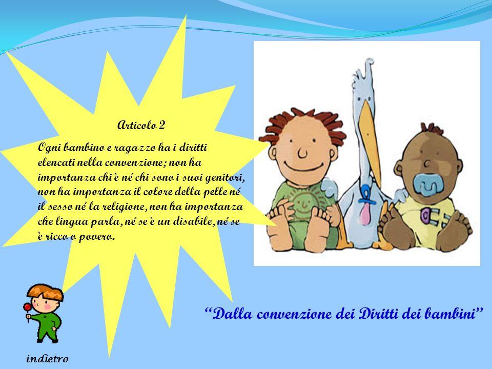 Dalla convenzione dei Diritti dei bambini
