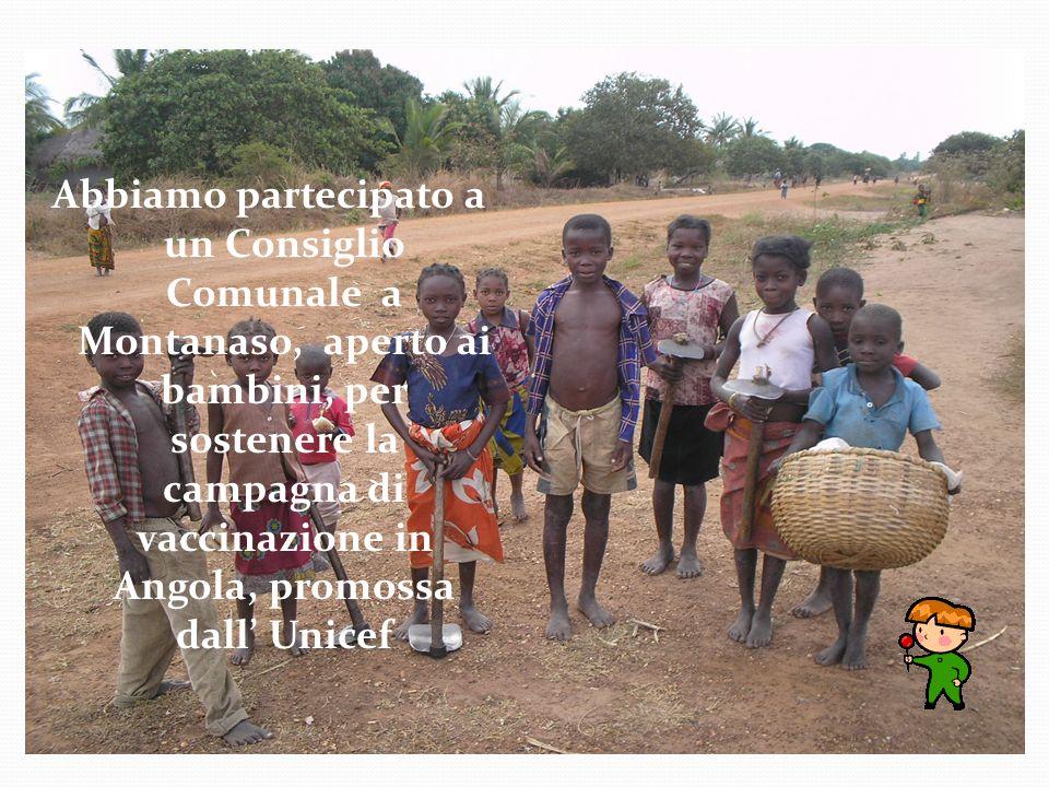 Abbiamo partecipato a un Consiglio Comunale a Montanaso, aperto ai bambini, per sostenere la campagna di vaccinazione in Angola, promossa dall' Unicef