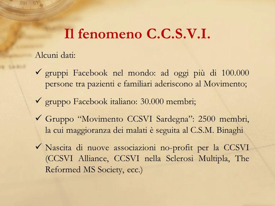 Il fenomeno C.C.S.V.I. Alcuni dati: