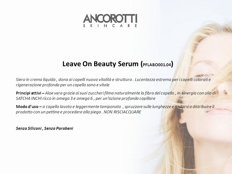 Leave On Beauty Serum (PFLABO001.04)