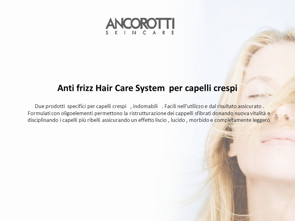 Anti frizz Hair Care System per capelli crespi
