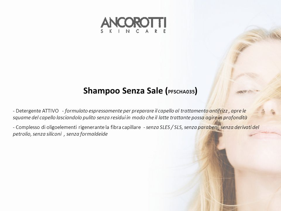 Shampoo Senza Sale (PFSCHA035)