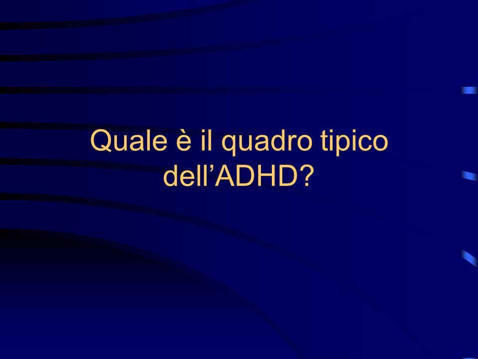 Quale è il quadro tipico dell'ADHD