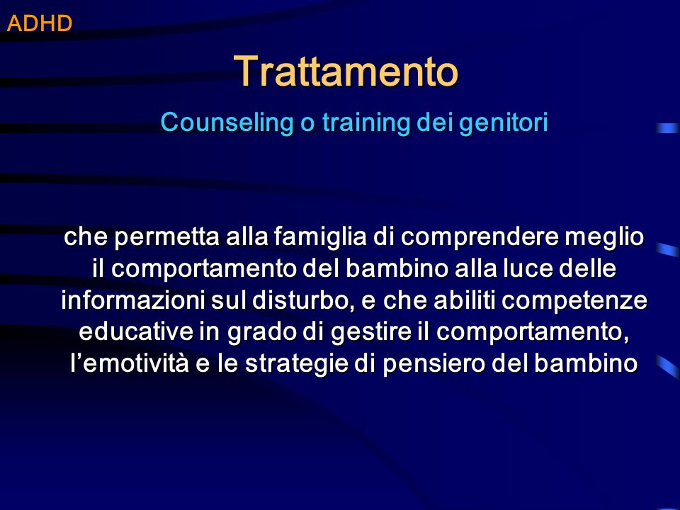 Counseling o training dei genitori