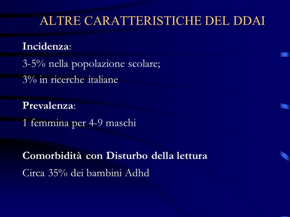 ALTRE CARATTERISTICHE DEL DDAI