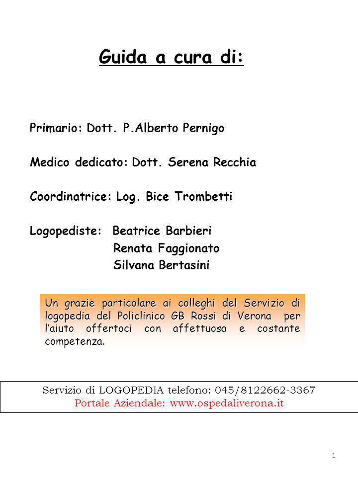 Guida a cura di: Primario: Dott. P.Alberto Pernigo
