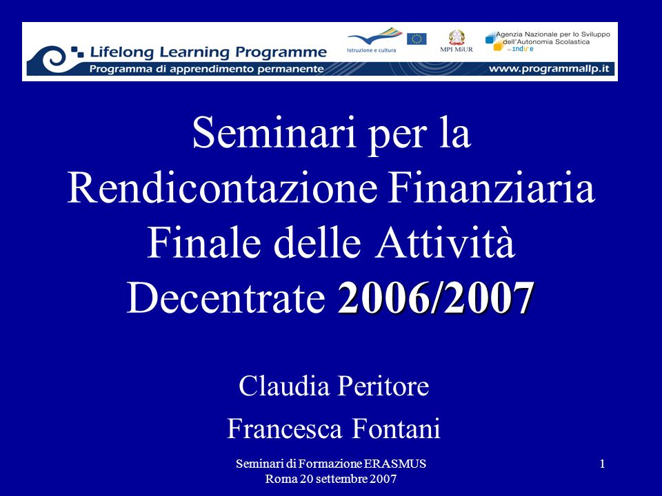 Claudia Peritore Francesca Fontani