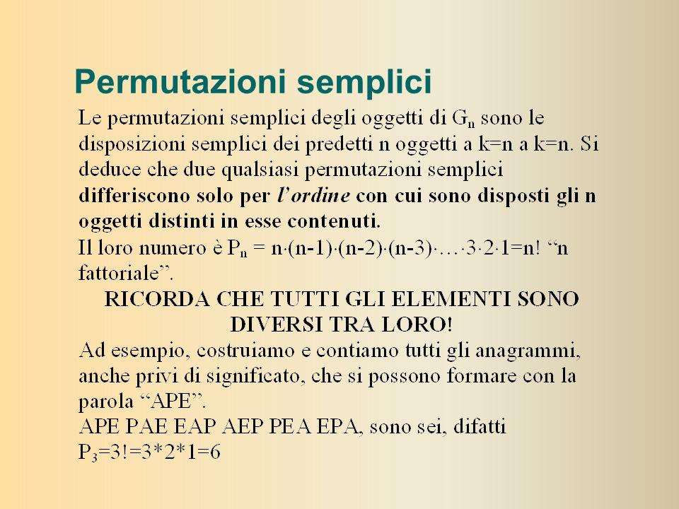 Permutazioni semplici