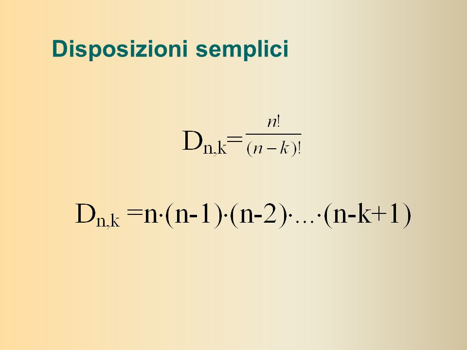 Disposizioni semplici