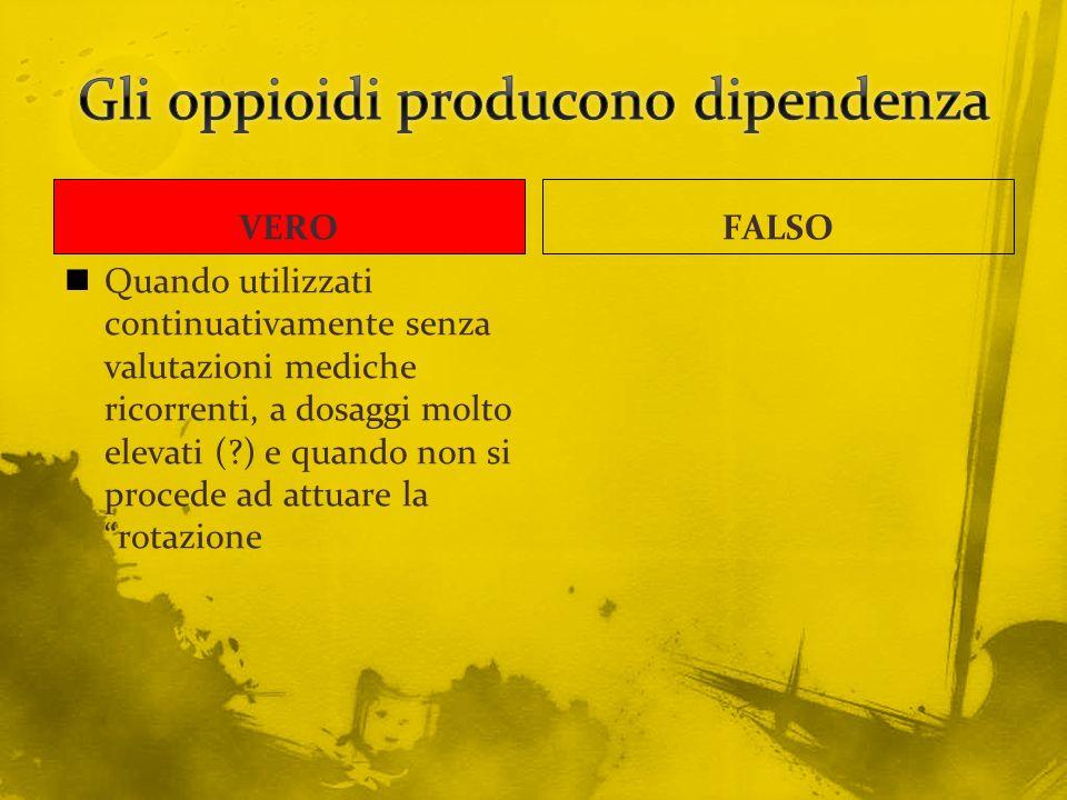 Gli oppioidi producono dipendenza