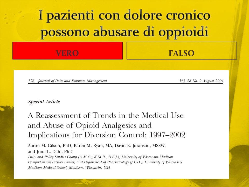 I pazienti con dolore cronico possono abusare di oppioidi