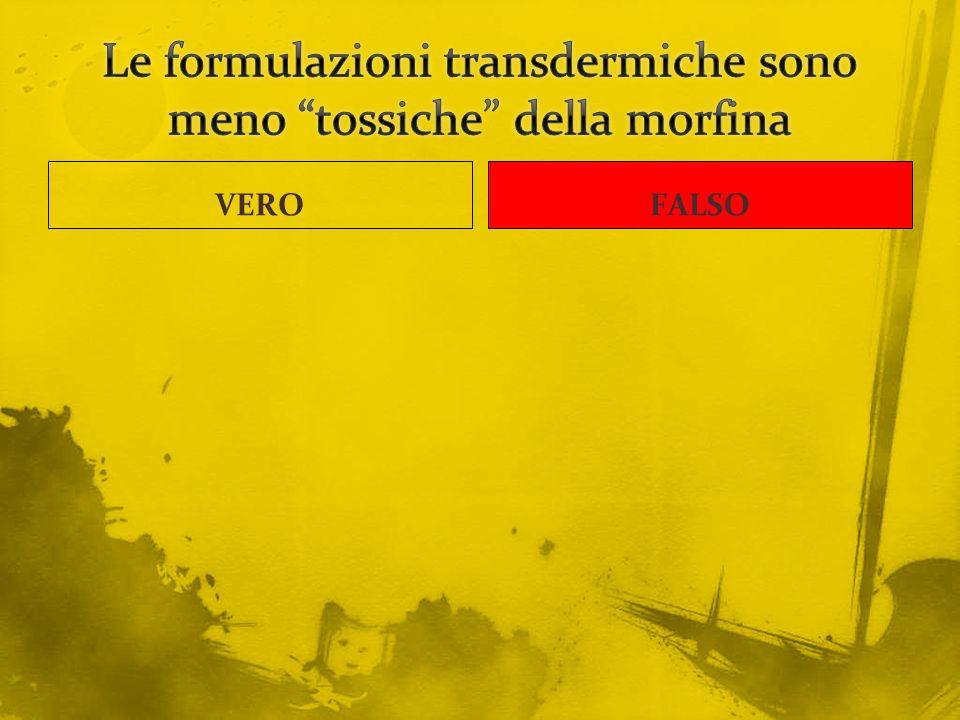 Le formulazioni transdermiche sono meno tossiche della morfina