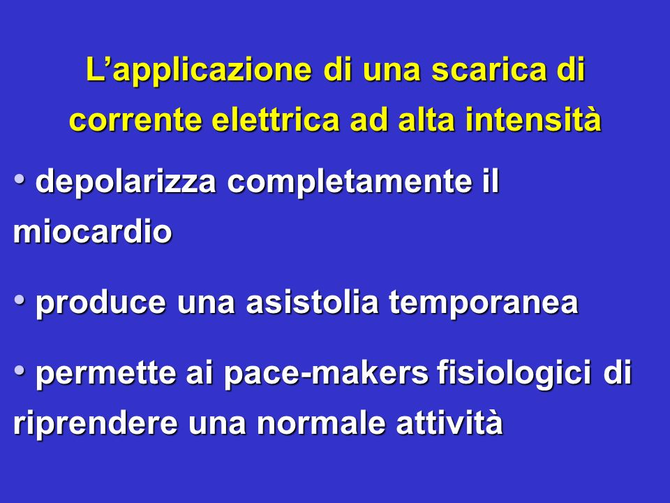 L'applicazione di una scarica di corrente elettrica ad alta intensità