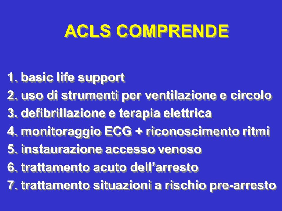ACLS COMPRENDE 1. basic life support