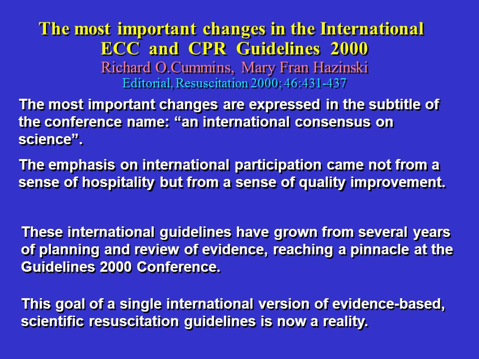 The most important changes in the International