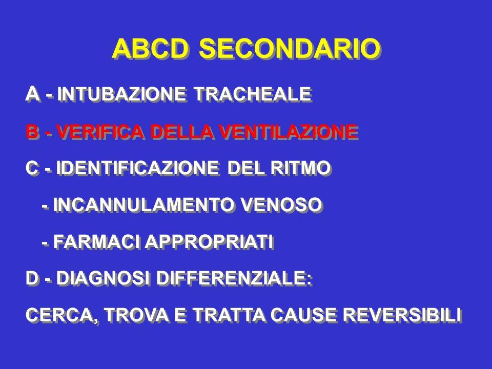 ABCD SECONDARIO A - INTUBAZIONE TRACHEALE