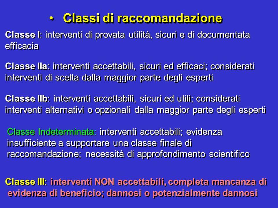 Classi di raccomandazione