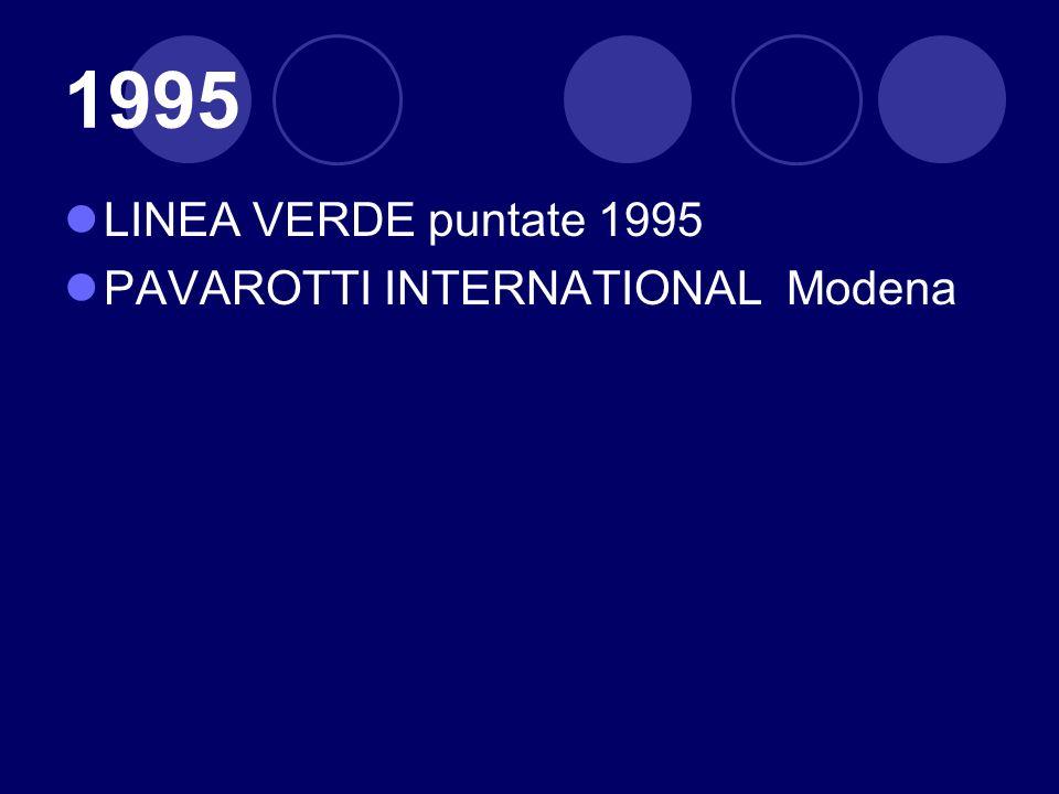 1995 LINEA VERDE puntate 1995 PAVAROTTI INTERNATIONAL Modena
