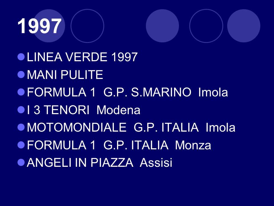 1997 LINEA VERDE 1997 MANI PULITE FORMULA 1 G.P. S.MARINO Imola